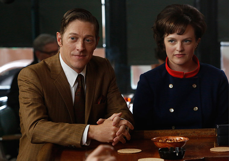 Ted Chaough (Kevin Rahm) and Peggy Olson (Elisabeth Moss) in