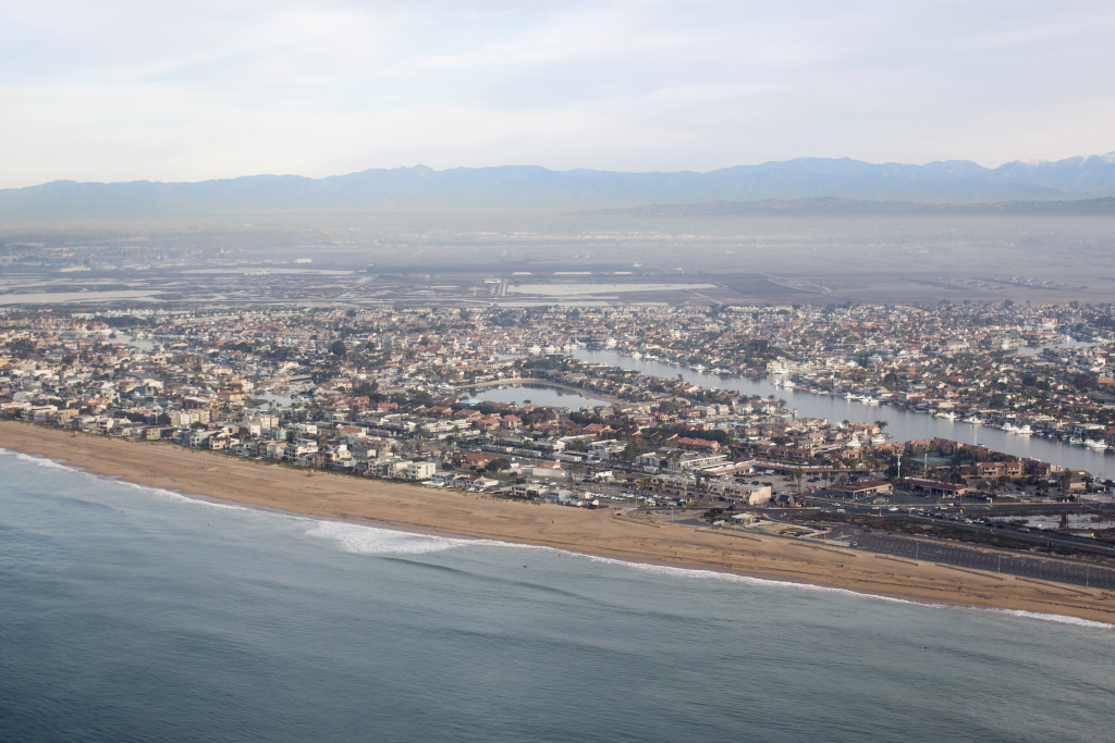 File: The Orange County Coast during a flight with LightHawk on Jan. 21, 2016.