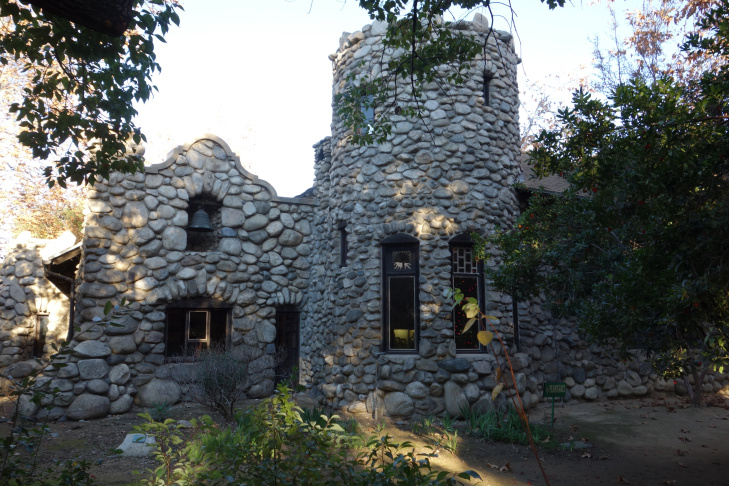 Lummis Home - tower and mission-inspired wall