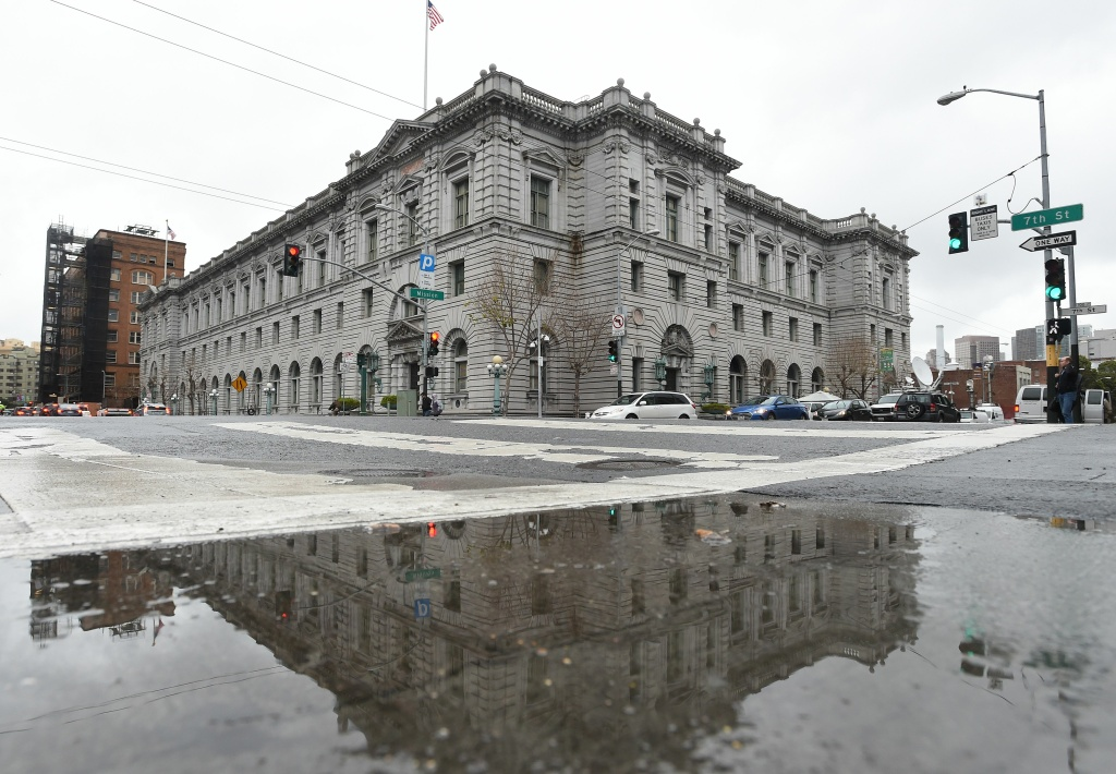 The United States Court of Appeals for the Ninth Circuit building is seen February 6, 2017 in San Francisco, California.