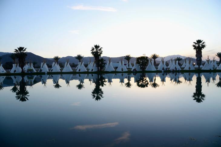 The Empire Polo Field Prepares for the 2013 Coachella Music Festival at The Empire Polo Club on April 11, 2013 in Indio, California.