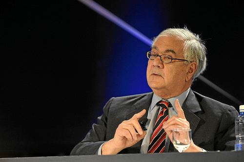 Rep. Barney Frank (D-Mass), speaking at 'The Next Global Crisis' session of the Annual Meeting 2010 of the World Economic Forum in Davos, Switzerland, Jan. 27, 2010, at the Congress Centre.