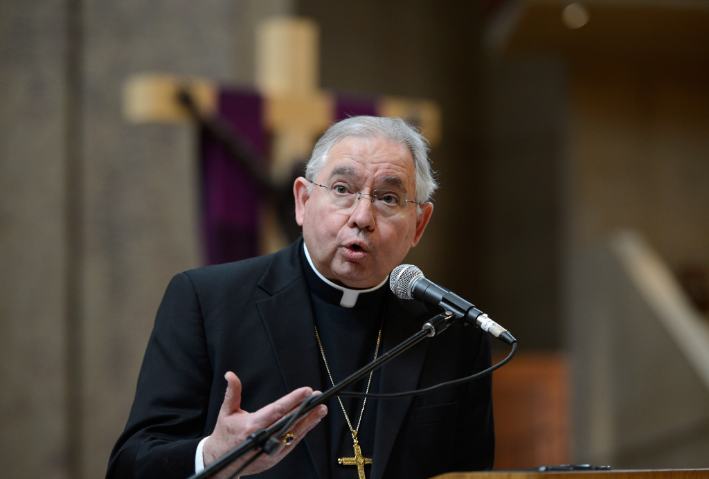 Image result for archbishop gomez and immigrants