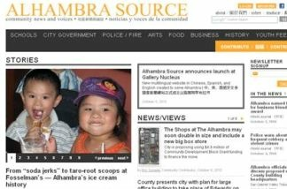 A screenshot of the Alhambra Source website.