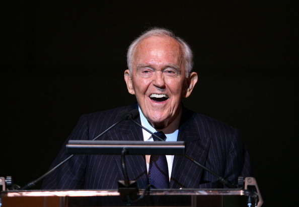 Founding Chairman Henry Segerstrom at the Orange County Perfroming Arts Center's renaming ceremony to Segerstrom Center for the Arts in 2011.