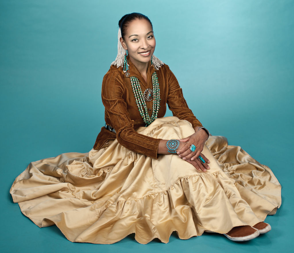 This publicity photo courtesy of Canyon Records shows Navajo singer Radmilla Cody. Cody is nominated for a Grammy Award for her album,
