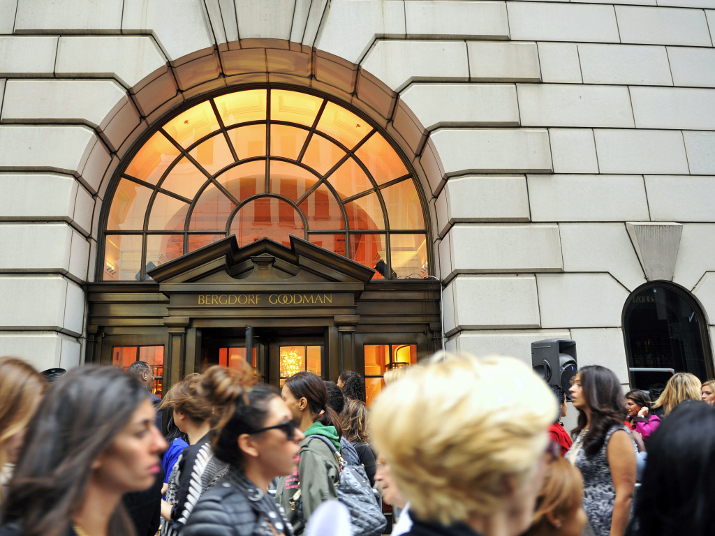 Customers line up to enter the Bergdorf Goodman store in New York City in this 2010 file photo. Advice columnist E. Jean Carroll claims President Trump sexually assaulted her in a dressing room at the Manhattan department store in the '90s.