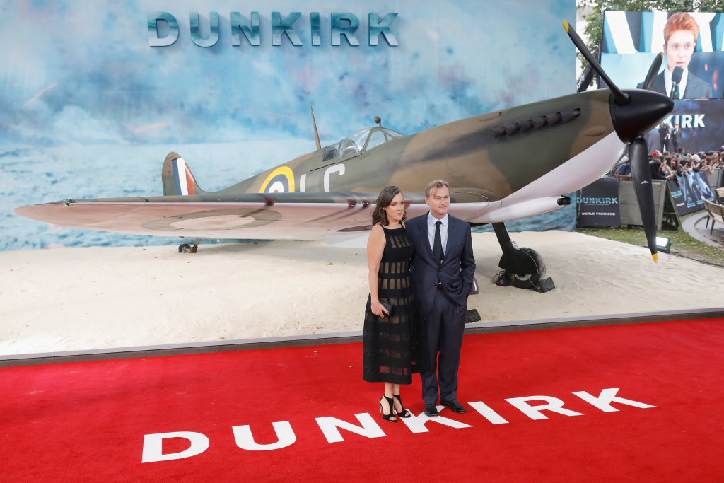 Emma Thomas and Christopher Nolan arrive at the 'Dunkirk' World Premiere at Odeon Leicester Square on July 13, 2017 in London, England.