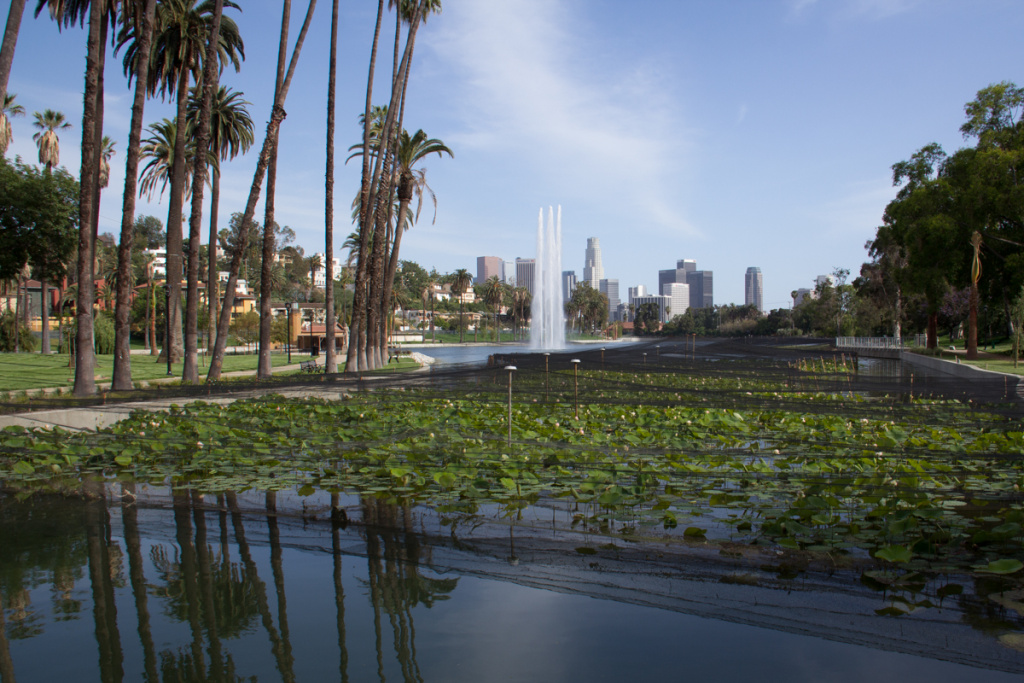 Officials may restrict RV parking at Echo Park Lake.