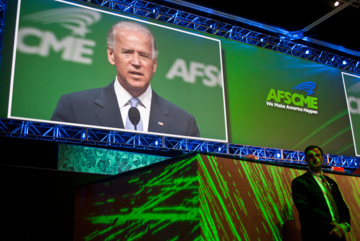 aFSCME convention JOE BIDEN