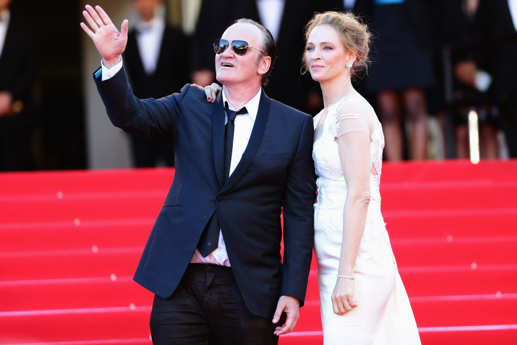 Quentin Tarantino and Uma Thurman at the 2014 Cannes Film Festival.