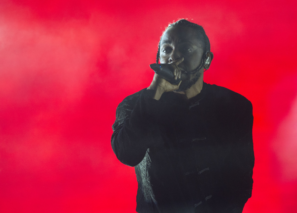 Rapper Kendrick Lamar performsing at the Coachella Valley Music And Arts Festival VALERIE MACON        (Photo credit should read VALERIE MACON/AFP/Getty Images)