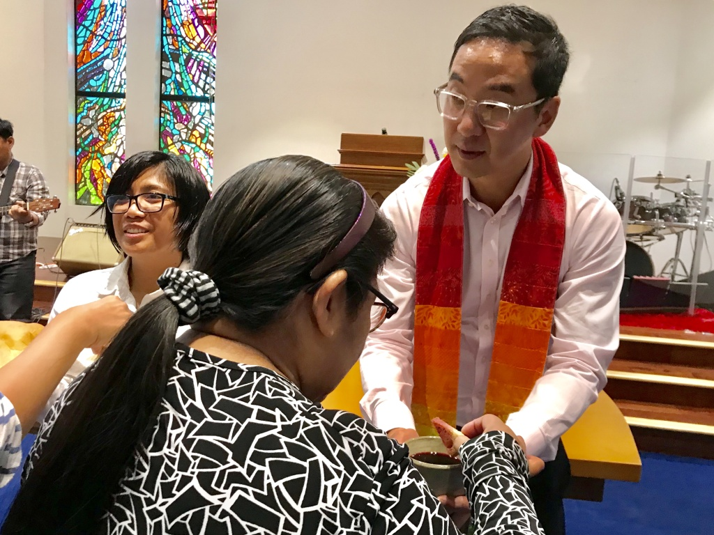 Sam Chung (l.) leads the First Progressive Church of Los Angeles with co-pastor Eula Pagdilao.