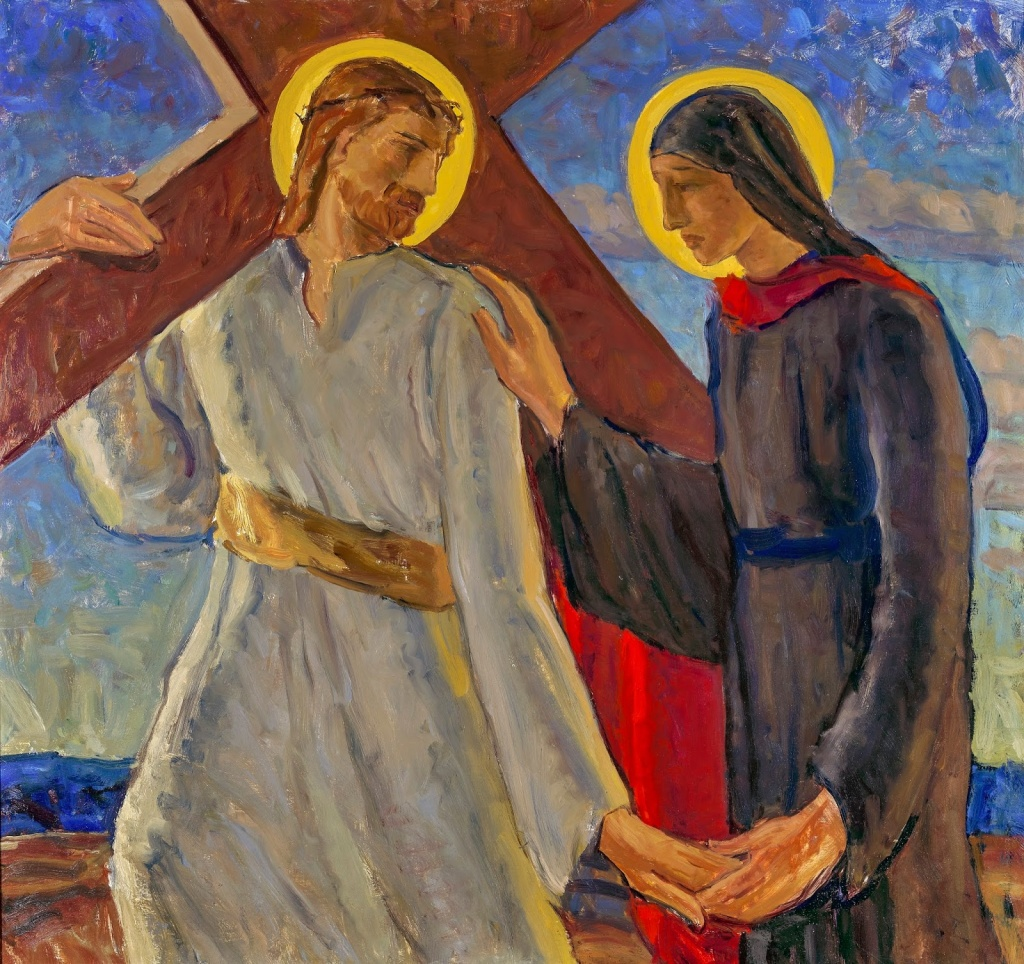 Christ Meets His Mother from The Seven Sorrows of the Blessed Virgin Mary for the Providence Hospital Chapel, Oakland, California, 1953