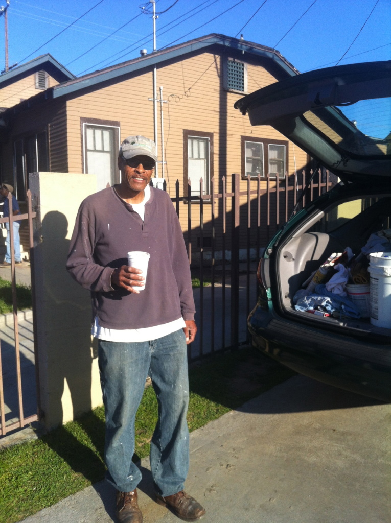 Rod Singleton of South Central L.A. says he could smell fires burning near his home at 28th and Western during the 1992 riots.