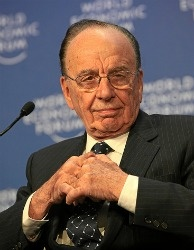 Rupert Murdoch at the World Economic Forum's annual meeting.