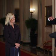 President And Melania Trump Introduce DHS Secretary Nominee Kirstjen Nielsen