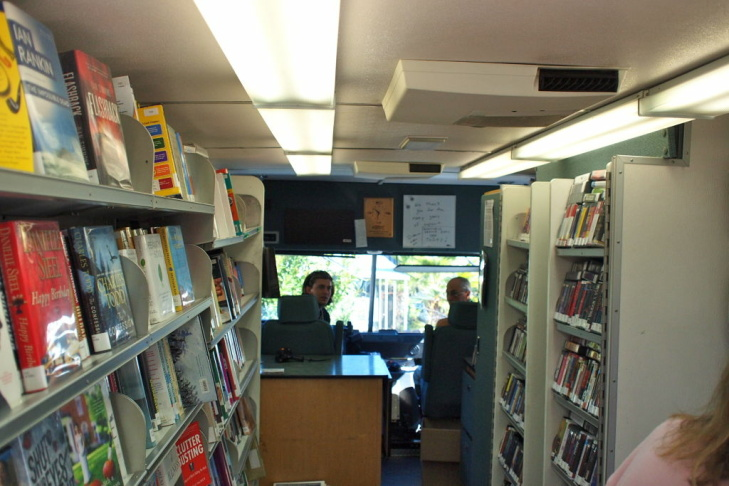Las Virgenes Bookmobile interior 1