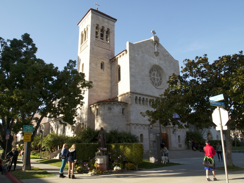 Roman Catholic clergy are planning to promote a comprehensive immigration overhaul from the pulpit around the country in September. (File photo: St. Monica's Catholic Church in Santa Monica.)