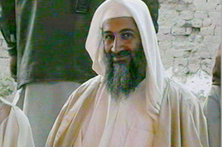 FILE - In this file television image broadcast on Qatar's Al-Jazeera TV, is said to show Osama bin Laden, at the wedding of his son in January of 2001. A person familiar with developments said Sunday, May 1, 2011 that bin Laden is dead and the U.S. has the body.