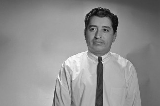 Newspaper columnist Ruben Salazar in 1970. Photo Courtesy of UCLA Library's Digital Collection, Changing Times: Los Angeles in Photographs, 1920-1990