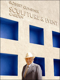The late Doctor Robert Gumbiner at Long Beach's Museum of Latin American Art, which he founded in the mid 1990s.