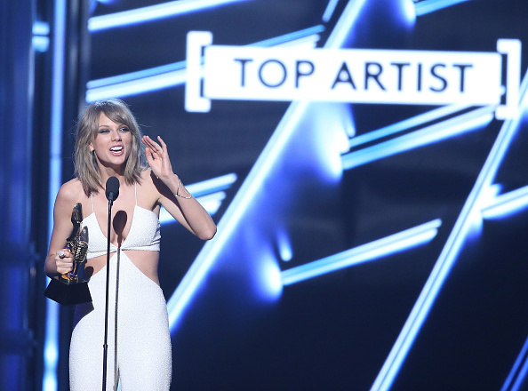 Taylor Swift won eight awards Sunday night at the MGM Grand Garden Arena in Las Vegas, including top artist.