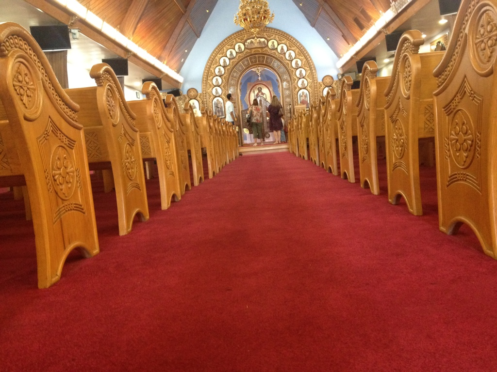 St. Mary and St. Verena Coptic Orthodox Church in Anaheim give church tours to neighbors and visitors during their weekend festival.