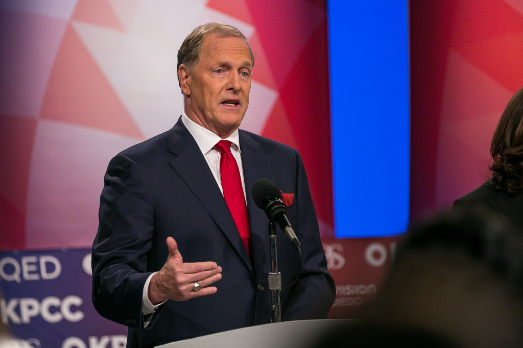 Duf Sundheim at a U.S. Senate debate at KPBS in San Diego, May 10, 2016.