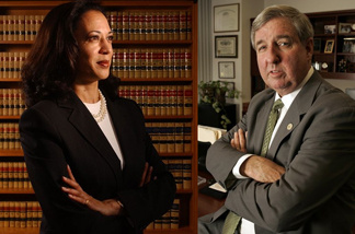 Opposing campaigns for California Attorney General candidates Kamala Harris, left, and Steve Cooley clashed on Tuesday, Nov.16, 2010 over the only uncalled statewide race.