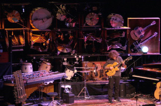 Musician Pat Metheny performs on January 30, 2010 in Coutances, during a concert as part of his 'The Orchestrion Tour'