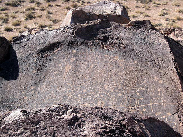 Some of the ancient carvings that can be found in the Volcanic Tablelands.