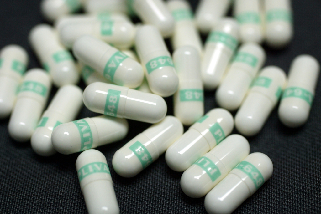 Anti-depressant pills named Fluoxetine are shown March 23, 2004 photographed in Miami, Florida.