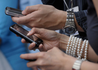 The research found that 75 percent of teens between the ages of 12 and 17 now have cell phones, up from 45 percent in 2004