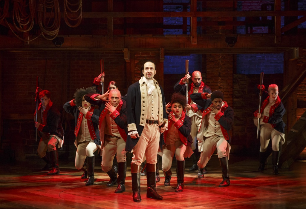Lin-Manuel Miranda and the company of