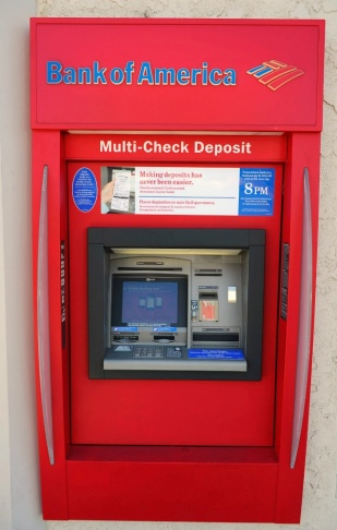 A Bank of America ATM.