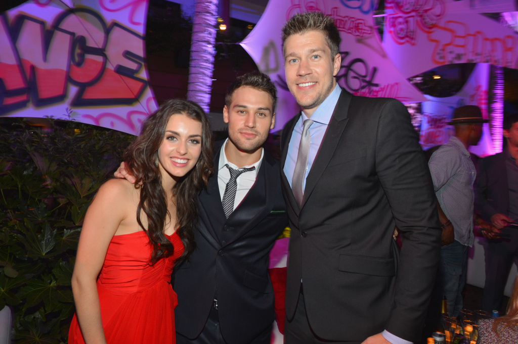 Actress Kathryn McCormick, actor Ryan Guzman and director Scott Speer attend the after party for the Los Angeles premiere of Summit Entertainment's