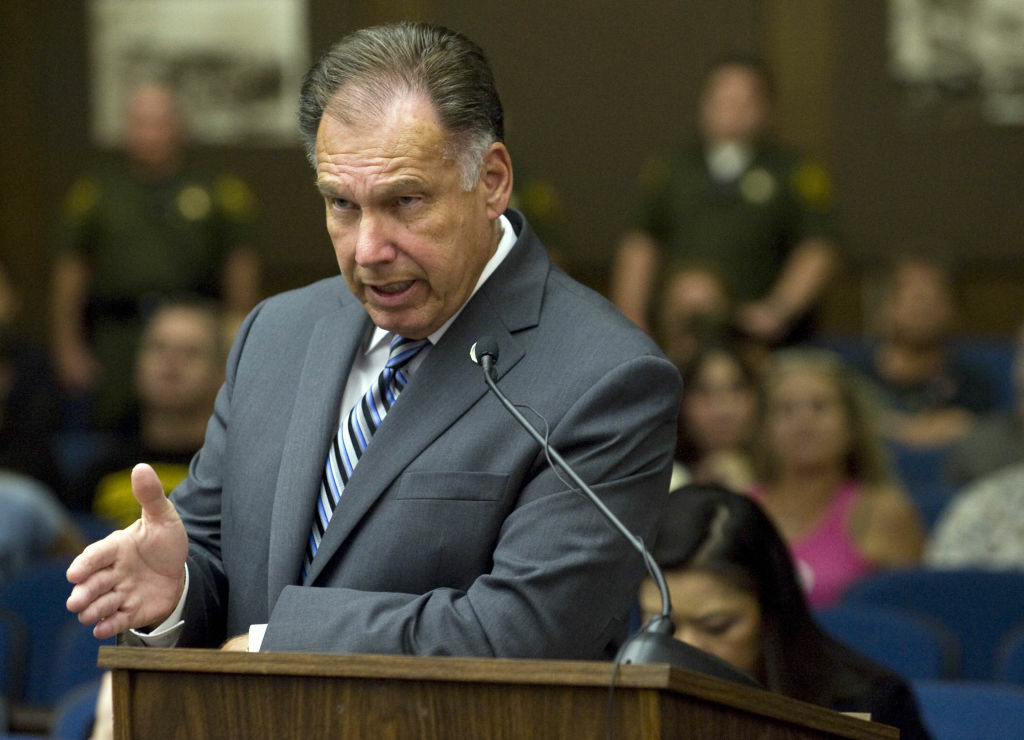 File photo: OCDA Tony Rackauckas, Orange County's elected district attorney, interviews a witness during a 2015 hearing into the death of Kelly Thomas, a homeless man.