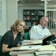 "Rachel McAdams, Michael Keaton (center) and Mark Ruffalo play Boston Globe reporters who uncover a sex abuse scandal in ""Spotlight."""