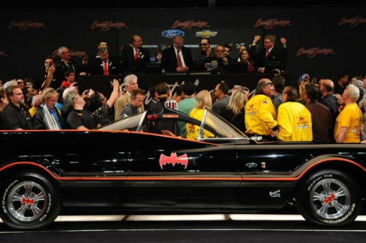 George Barris takes the passenger seat in the just-sold Batmobile, Saturday, Jan. 19, 2013.