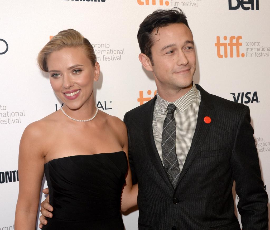 Actress Scarlett Johansson and actor/filmmaker Joseph Gordon-Levitt arrive at the