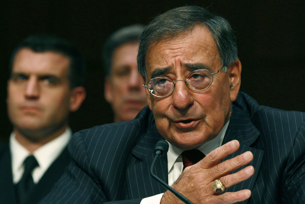 Defense Secretary Leon Panetta speaks during a Senate Armed Services Committee hearing on Nov. 15, 2011, in Washington, DC. In a recent statement, he has deemed a video of four Marines urinating on deceased Taliban corpses