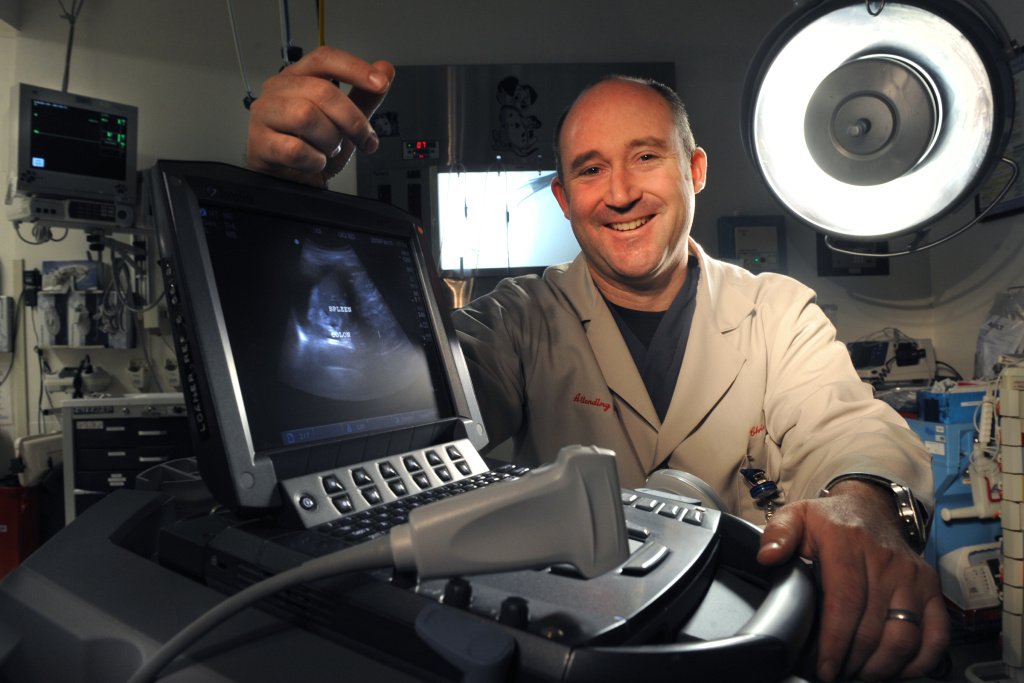 UC Irvine's Dr. Chris Fox brought portable ultrasounds into UCI's medical school training. He says the small devices save lives and money.