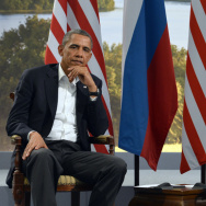 President Obama meets with Russian President Vladimir Putin in Northern Ireland on June 17. A new Gallup poll says Americans are increasingly viewing both Putin and Russia less favorably.