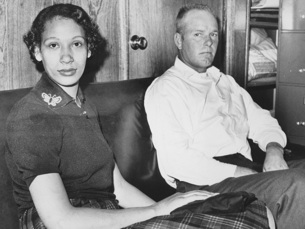 This Jan. 26, 1965, file photo shows Mildred Loving and her husband Richard P Loving. Bernard S. Cohen, who successfully challenged a Virginia law banning interracial marriage.
