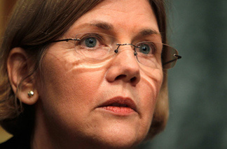 Elizabeth Warren at a Congressional hearing in March.