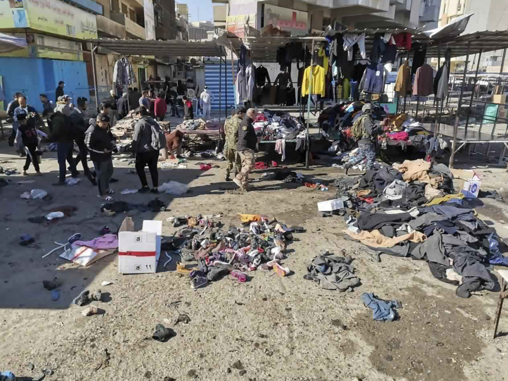 A rare, deadly suicide bomb attack in a busy Baghdadi market killed and wounded dozens of civilians Thursday afternoon. The death toll is expected to rise.