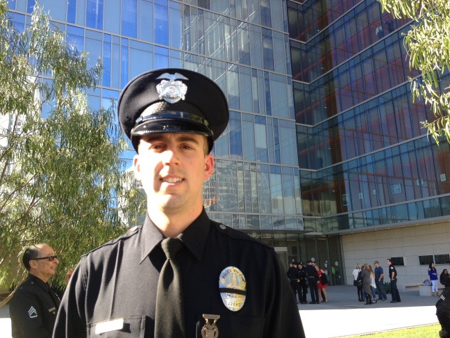 LAPD Officer Woodrow Wheat graduated from the police academy Tuesday, December 23, 2014.