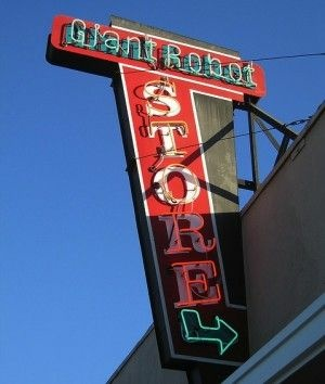 The Giant Robot store sign on Sawtelle Boulevard, September 2006