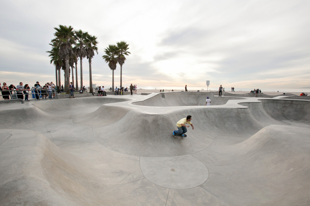 Venice Beach has long been a refuge for the city's homeless.
